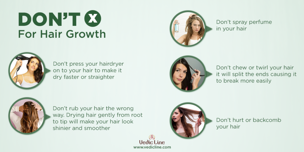 Don'ts for soft, healthy hair