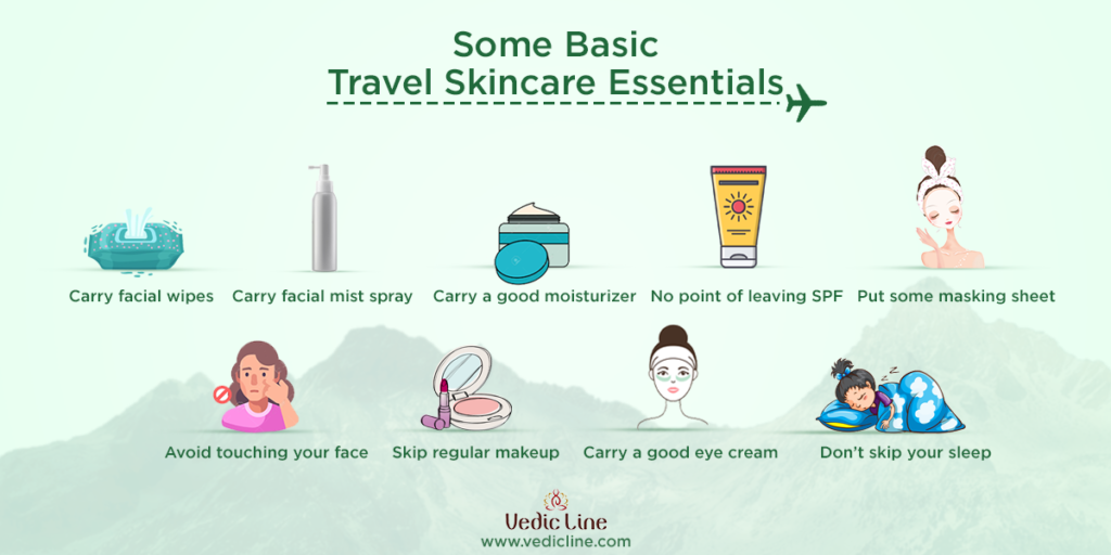 Basic skin care tips for travelling :travel beauty routine