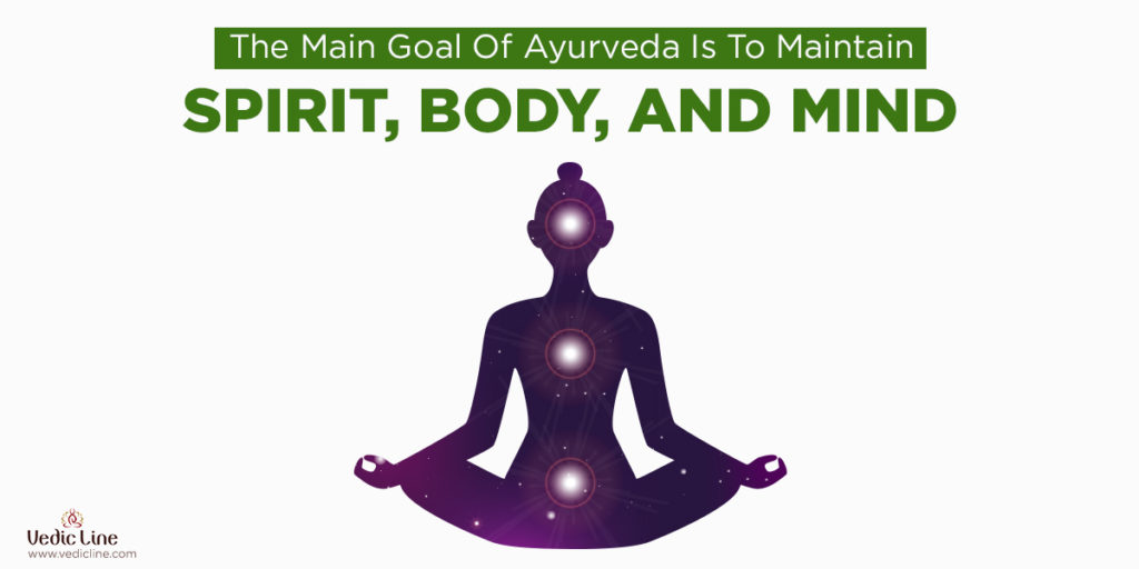 The main goal of ayurveda to maintain-Vedicline