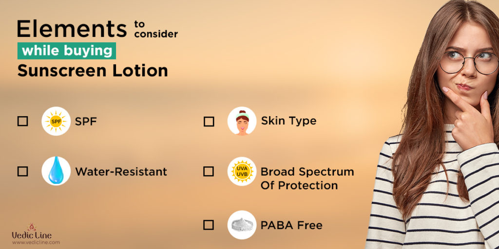 Elements to consider while buying sunscreen lotion vedicline