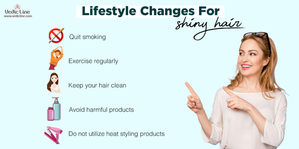 Lifestyle changes for shinny hair