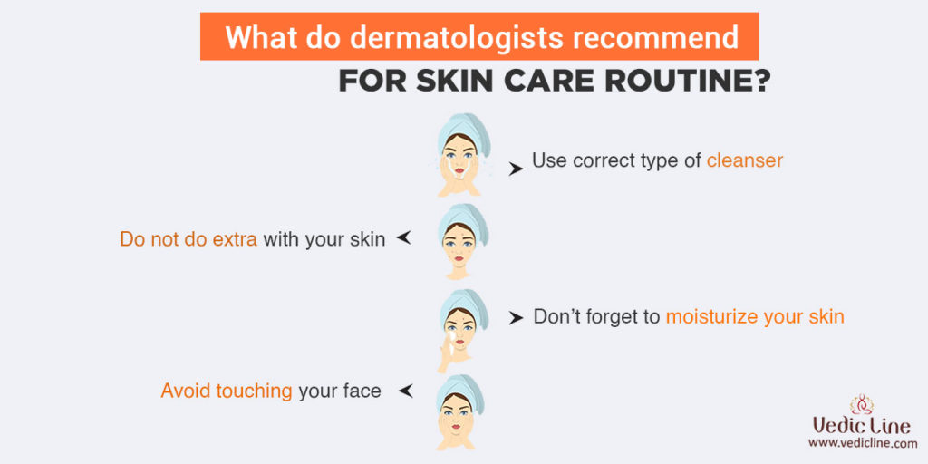 What do dermatologists recommend for skin care routine-Vedicline