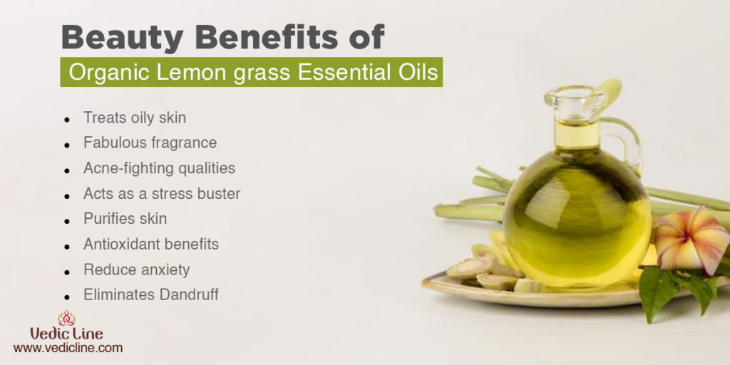 Beauty benefits of lemon grass oil-Vedicline