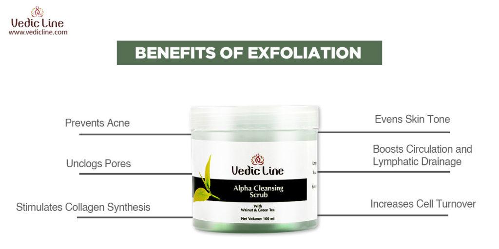 Benefits of exfolation-vedicline
