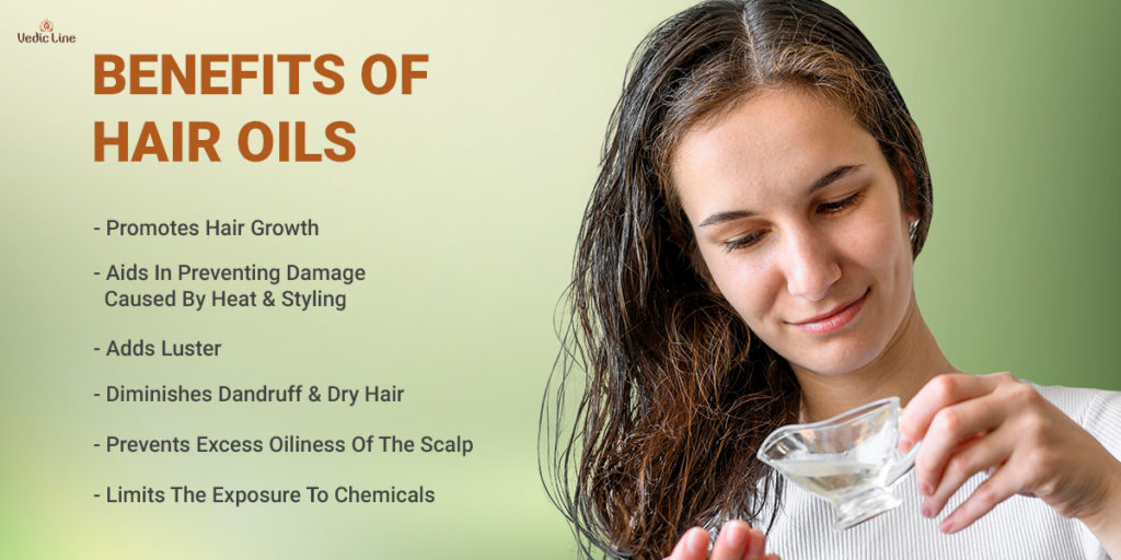 Benefits of natural hair oil-Vedicline