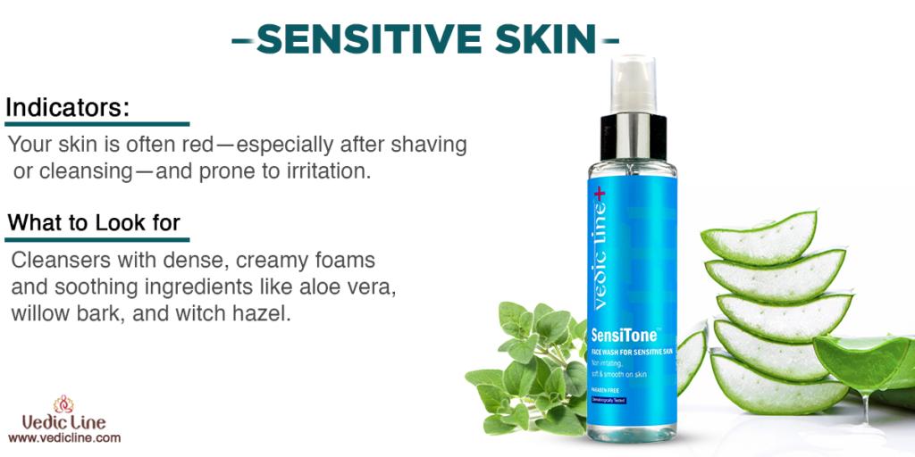 Best natural cleanser for sensitive skin-Vedicline
