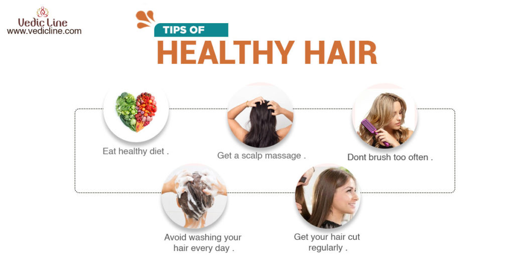 Tips for healthy hair-vedicline